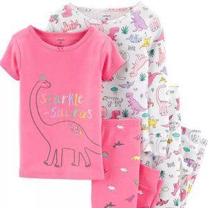 Carters 3T 4-Piece Dinosaur Snug Fit Cotton PJs